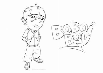 Boboiboy Mewarnai Mewarna Gambar Untuk Alfabet Boboi