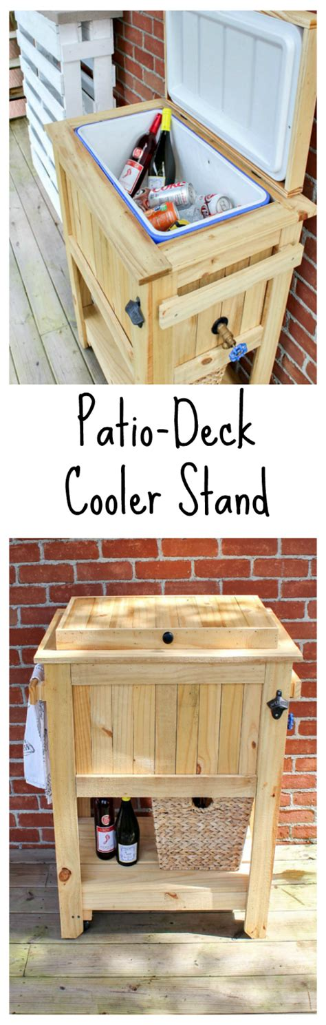 patio coolers with stands patio deck cooler stand reveal sweet parrish place