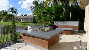 Ultra Modern Outdoor Kitchen Table & Bench