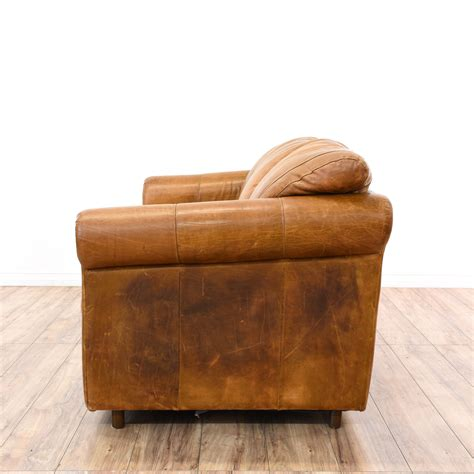 Distressed Leather Sleeper Sofa by Distressed Camel Leather Sleeper Sofabed Loveseat