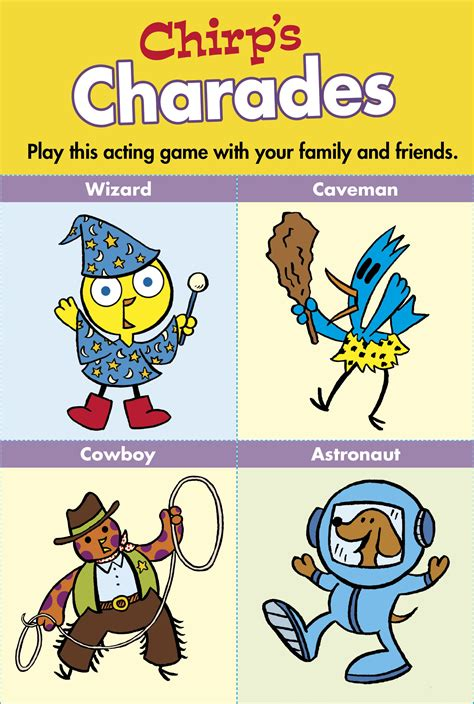 Owlkids Chirp Charades Cards Owlkids