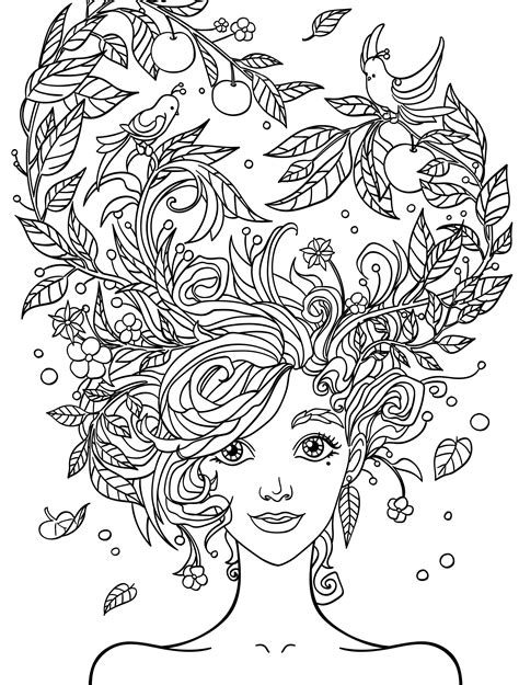 pretty coloring pages  adults  printable people