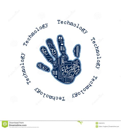 technology hand royalty  stock photo image