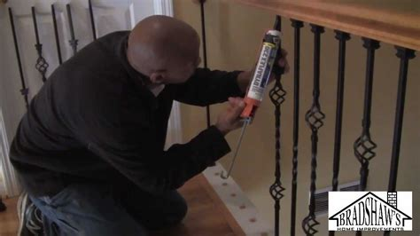 How To Install A Stair Banister by How To Install Stair Spindles