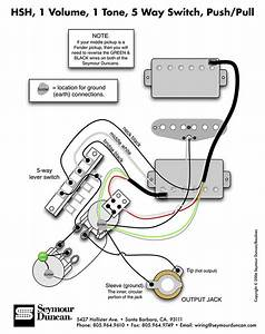 Hsh Wiring Diagram 5 Way Switch 2 Conductor Humbucker