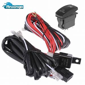 New Led Light Bar Wiring Harness Rocker Switch Roof For