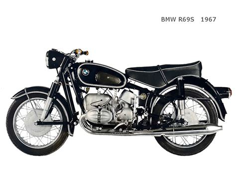 A Collection Of Retro Bmw Motorcycles