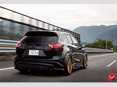 Mazda CX5 Tuned with Vossen Wheels and Air Suspension
