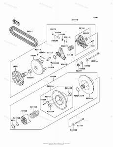 Kawasaki Atv 2000 Oem Parts Diagram For Drive Converter