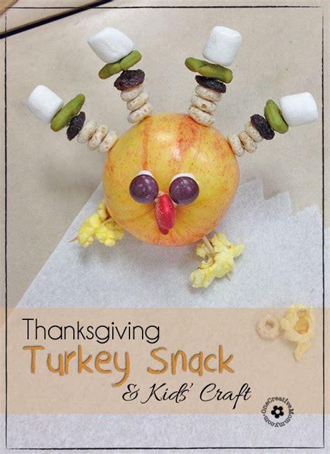 thanksgiving snack kids craft turkey