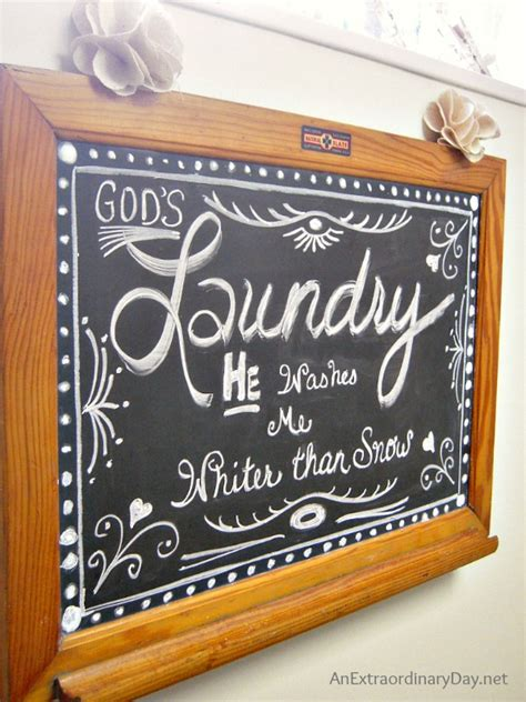 chalkboard room decor laundry room chalkboard art more on the makeover an extraordinary day