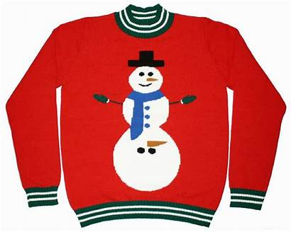 Sweater Ugly Clipart Christmas Clip Sweaters Snowman