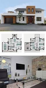 Streif Haus Köln : modernes einfamilienhaus mit garage galerie und satteldach architektur grundriss fertighaus ~ Buech-reservation.com Haus und Dekorationen