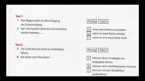 modeltest  uebung zertifikat  modul hoeren teil  youtube