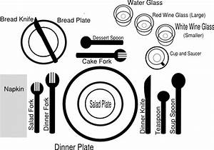 Formal Dinner Setting Clip Art at Clker.com - vector clip ...