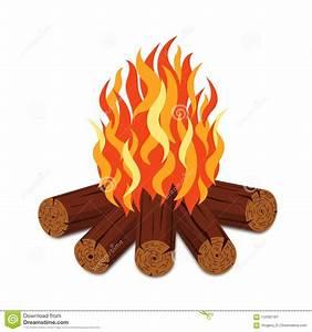 Feu A Bois : le feu de camp avec le bois de chauffage et la flamme ~ Melissatoandfro.com Idées de Décoration