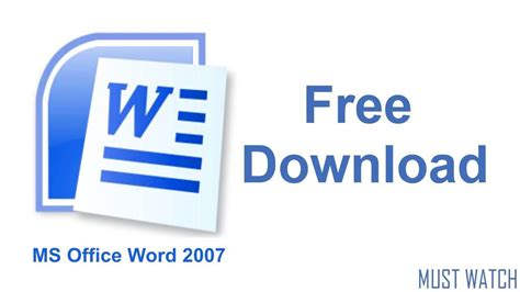 how to microsoft word 2007 for free new