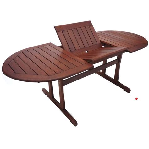Buy Outdoor Table by Wooden Oval Outdoor Table With Foldable Extensions Buy