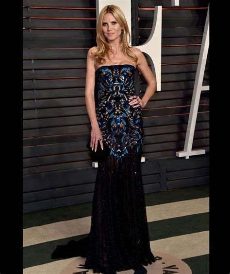 Heidi Klum Arrives The Vanity Fair Oscar Party
