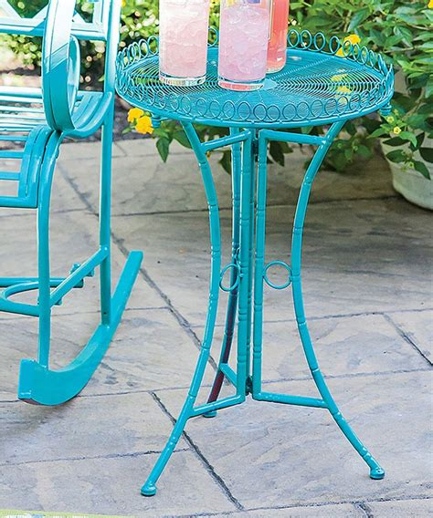 garden side table metal outdoor metal side table colorful outdoor side tables