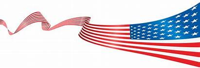 Flag American Transparent Banner Clipart Clip Usa