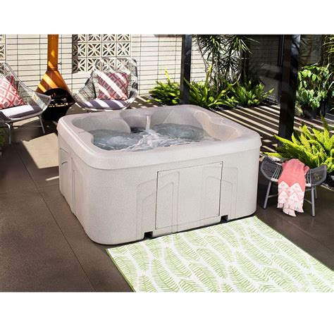 lifesmart 4 person rectangular tub lifesmart bermuda ls100 4 person 13 jet and play