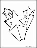 Shooting Coloring Star Pages 3d Stars Printable Print Template Colorings Pdf Clipart Getdrawings Colorwithfuzzy Getcolorings sketch template