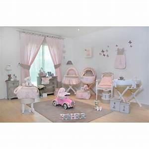 rideau rose chambre fille kirafes With rideau chambre bebe fille