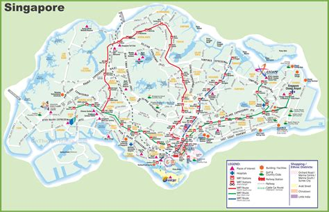 large transport map  singapore