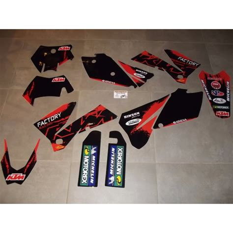 kit deco 125 sx 2006 kit d 233 co complet ktm exc excf sx sxf 05 224 07 rd2shop fr