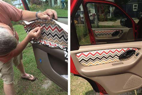 grosgrain custom fabric car door panels