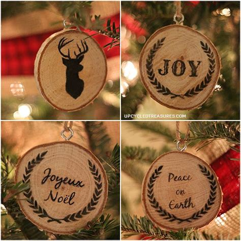 personalized wood slice christmas ornaments gifts hometalk