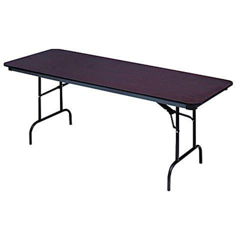 folding wood table home depot iceberg premium wood laminate folding table rectangular 72