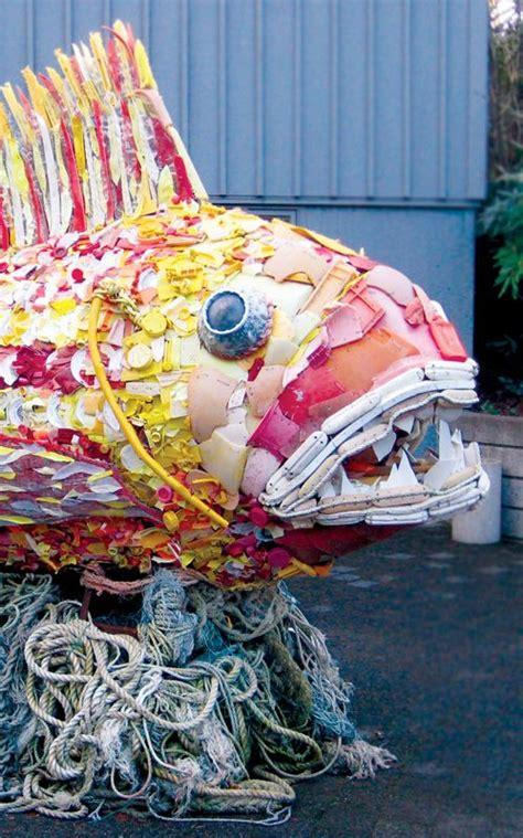 large scale sculpture   marine debris