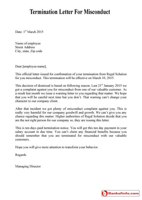 Warning Letter For Misbehaviour   Letters – Free Sample