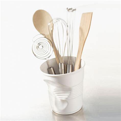 ustensil cuisine pot à ustensiles 1l froissés blanc revol pots à