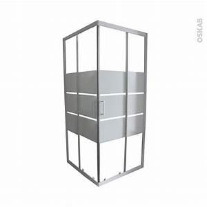 porte de douche coulissante elie angle 80x80 cm verre With porte de douche 80x80