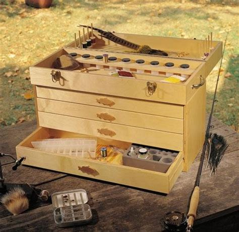 Fly Tying Table Woodworking Plans by Fly Tying Box Shopwoodworking