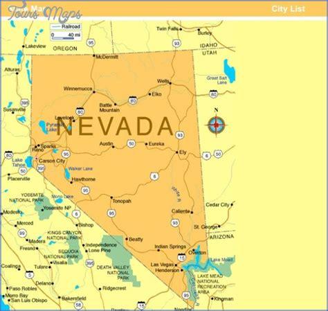 Tonopah Nevada Map - ToursMaps.com