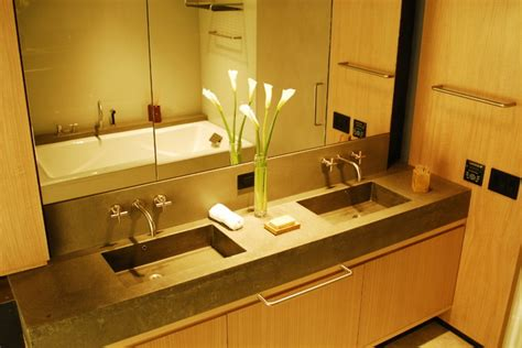 One Bathroom Sink by Concrete Bathroom Countertop With Sink Modern