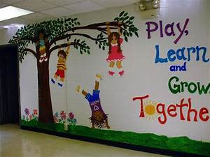 My mural on entrance wall of k school photo fwall g