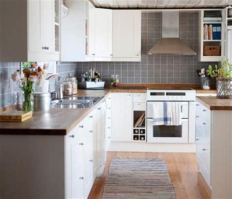 cocinas en blanco  madera decoracion
