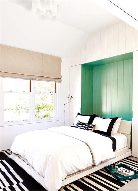 bedroom  black  white textiles