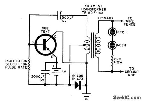 Electric Fence Charger Power Supply Circuit