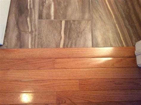 transitioning hardwood floor to tile floor is there a