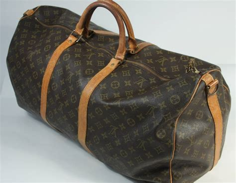louis vuitton vintage monogram large duffle carry  bag   stdibs