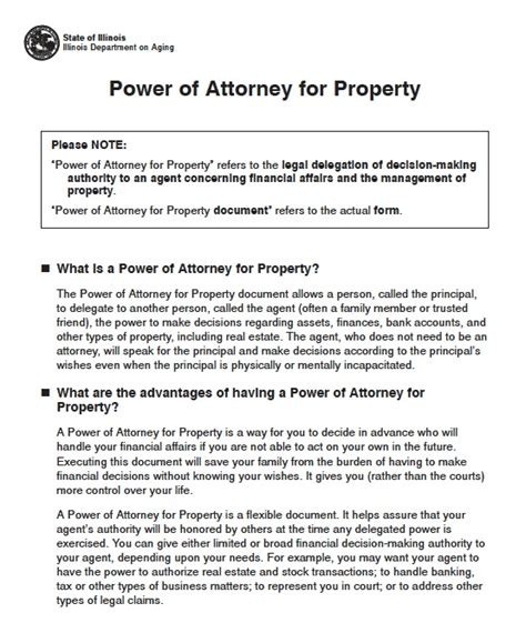 illinois power  attorney forms  templates