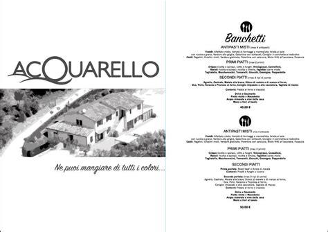 Menu Per Banchetti by Ristorante Nelle Marche Acquarello Bed Breakfast Di
