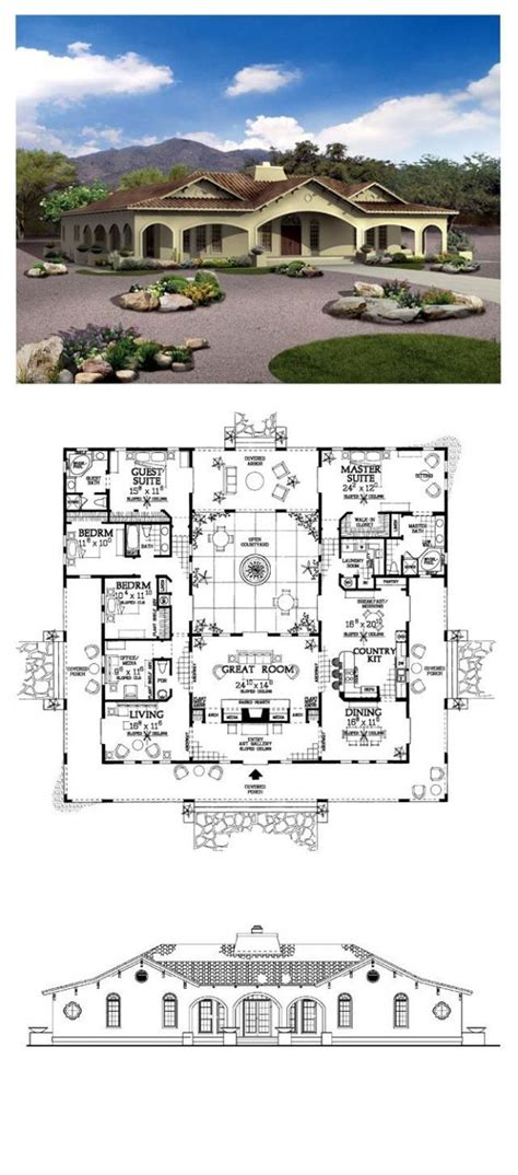 southwest house plans arizona house plans southwest home mdl 4044 r luxihome
