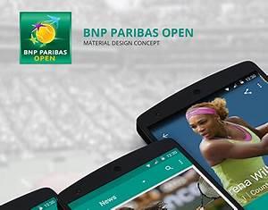 BNP Paribas Open App : Material Design on Behance